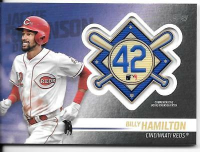 Billy Hamilton 2018 Topps Update JACKIE ROBINSON LOGO PATCH RELIC Reds
