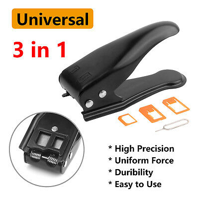 Sim Card Cutter with Nano/Micro Adapter for iPhone X/8 Samsung S9 Smartphone