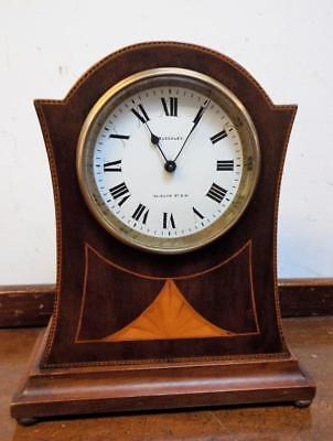 french mahogany inlaid mantel clock