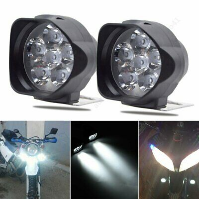 2x Motorcycle Waterproof LED External Spot Lights Fog Lamp Scooter ATV Headlight