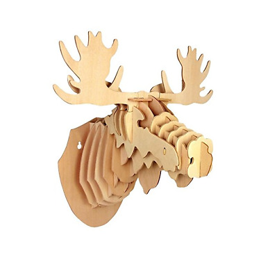 Australian Geographic - 3D Moose Head Wood Craft Construction Kit - New
