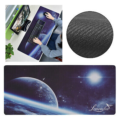 Gaming Mouse Pad Colourful Electromagnetic Wave Large Desk Mat Keyboard Office