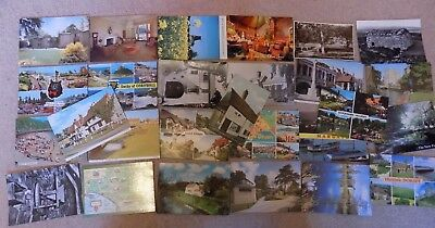Collection of 27 Old Postcards of England & Wales Posted & Unposted