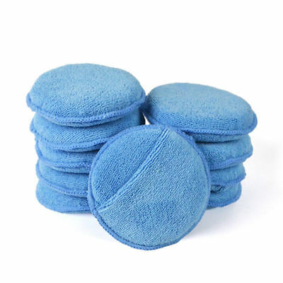 """Autocare Microfiber Wax Applicator with Finger Pocket,Ultra-soft,5 """"(Pack of 10)"""