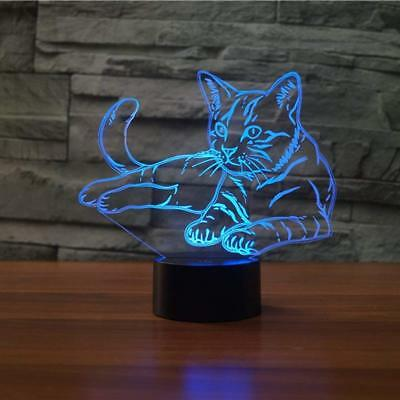 3D Lamp LED Table Night Touch Light Control 7 Color Changing Bedroom Child Gift