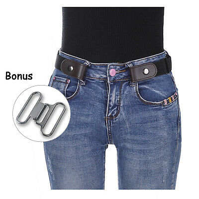 Adjustable Stretch Buckle-free Invisible Waist Belts for Jeans No Bulge Hassle