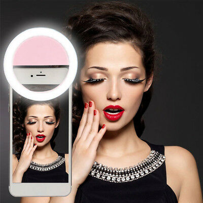 LED Portable Selfie Camera Ring Flash Fill Light For iPhone Android Mobile Phone