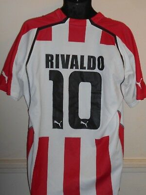Olympiakos (Greece) Home Shirt (2005/2006* RIVALDO 10) xxl men's #897