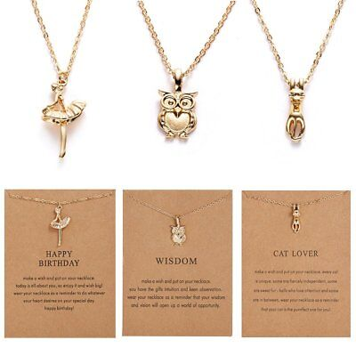 Fashion Animal Pendant Necklace Clavicle Chain Womens Jewellery Gift Party