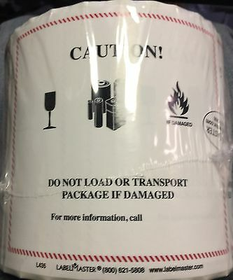 Caution Lithium ion LI-ION Battery Handling Labels L435 Warning Label 500 pack