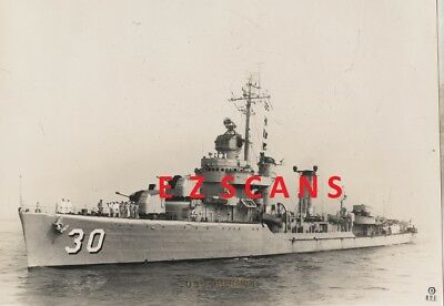 USS GHERARDI DMS-30  (1) 8X10 B&W  PHOTO US NAVY 195?  ex DD-637 OUR NAVY pic