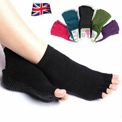 Yoga Fitness Grip Excercise Sock Sport Rubber Pilates Non Slip Sock Gym Open Toe