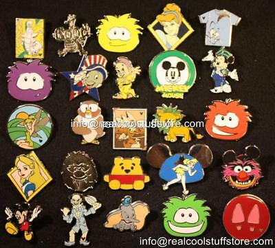 50 Random Disney Pins - No Duplicates - Trade or Keep - FREE US Ship - M