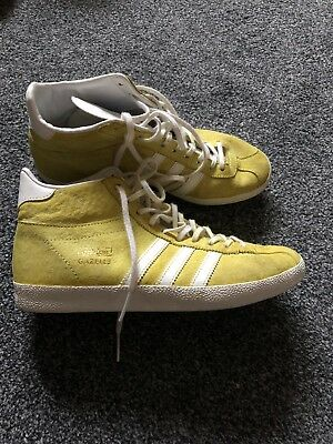 Adidas Gazelle Og Mid Top Light Green Suede Women's Trainers Shoes Size UK 5