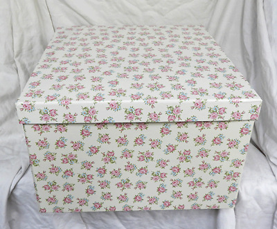 Country Rose Design - Collapsible Storage Box with Handles NEW