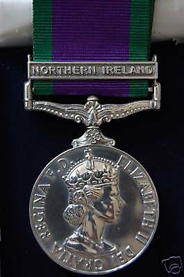 """Silver Campaign Service Medal """"northern Ireland"""""""