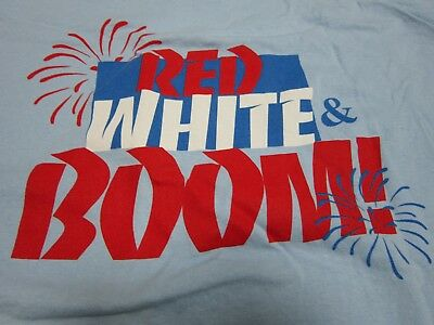 Red White & Boom 100% Cotton Adult Large T-Shirt July 4 Fireworks Santa Rosa Cal