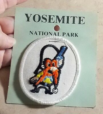 Vintage Yosemite National Park Yosemite Sam  Embroidered Tourist Patch 1970's