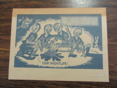 Our Night Life Boy Scout Card   1930's