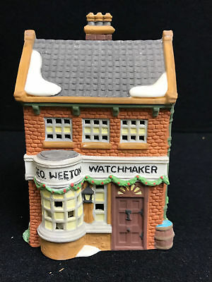 Dept 56 Dickens Village Series Geo Weeton Watchmaker Porcelain Collectible