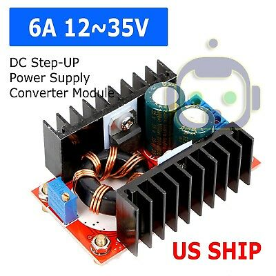 150W DC-DC Boost Converter 10-32V In to 12-35V Out 6A Step Up Voltage Charger US