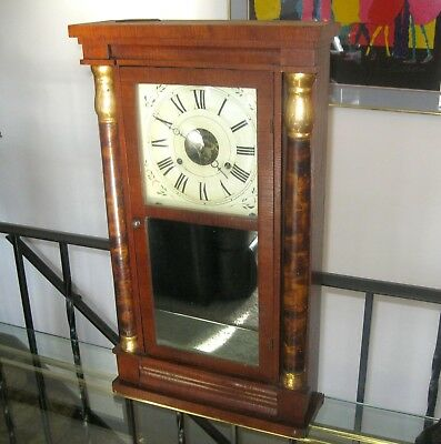 Antique Seth Thomas Weight Driven Ogee Clock With Chime Parts or Repair