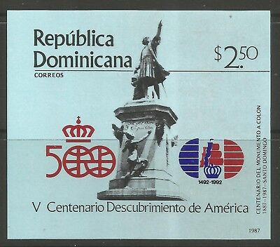 STAMPS-DOMINICAN REPUBLIC. 1987 Columbus (5th Issue) Miniature Sheet. SG: MS1687