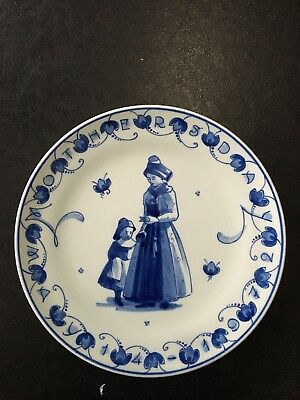 @ Perfect @ Porceleyne Fles Handpainted Delft Plate Worldjourney Submarine 1935 Pottery & China