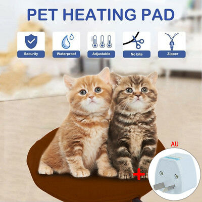 Safety Electric Pet Heating Pad Dog Cat Warming Mat Round Blanket Bed for Pets