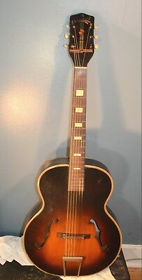Vintage  S S Stewart  Archtop Guitar 1930's Rare Kluson Tuners Project Mdl 9610