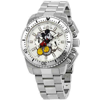 Invicta Disney Limited Edition Mickey Mouse Chronograph Silver Dial Men's Watch