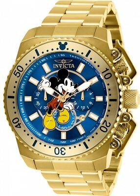 Invicta Disney Limited Edition Mickey Mouse Chronograph Blue Dial Men's Watch