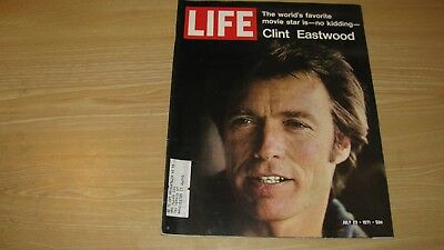 1971  Life Magazine July 23   Clint Eastwood   High Grade Lowest Price On Ebay
