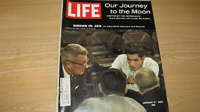 1969  Life Magazine January 17   Sirhan In Jail  High Grade Lowest Price On Ebay