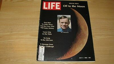 1969  Life Magazine July 4 Neil Armstrong  Moon  High Grade Lowest Price On Ebay