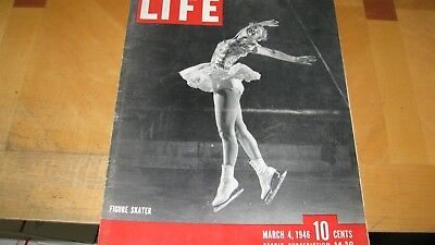 1946  Life Magazine  March 4  Figure Skater   High Grade Lowest Price On Ebay