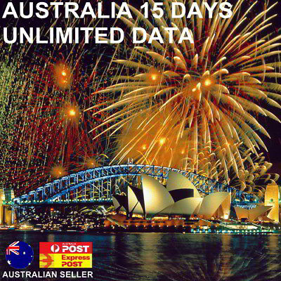 $1.7 per day! 15 Days Australia + New Zealand Travel SIM Card | Unlimited Data