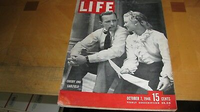 1946  Life Magazine October 7 Crosby & Caulfield High Grade Lowest Price On Ebay