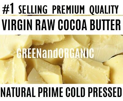1/2 Lb Raw COCOA BUTTER 100% Pure Unrefined Organic FOOD GRADE Prime Cacao 8 oz