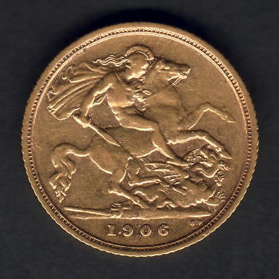 Australia.  1906 Sydney - Half Sovereign...  aVF/VF+ - Part Lustre