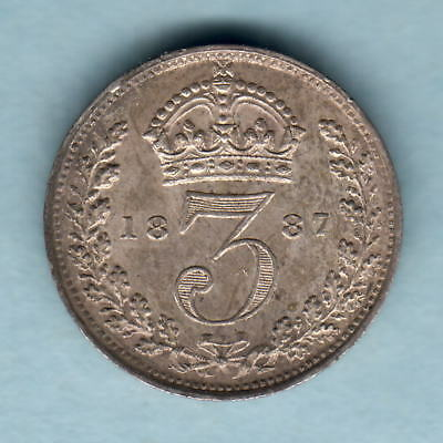 Great Britain.  1887 Jubilee Head - Threepence.. gEF/aUNC