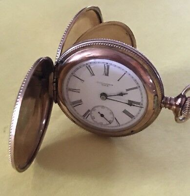 ANTIQUE COLUMBIA POCKET WATCH  FULL HUNTER CASE Works #66