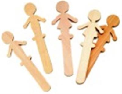 Chenille Kraft 6 in. Wood People Craft Stick Pack - 36