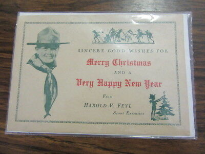 Boy Scout Christmas Card from Harold V. Feyl, SE,  Atlantic City Council