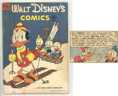 February 1953 WALT DISNEY COMICS & STORIES #149 Carl Barks. SKIING COVER