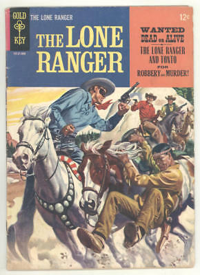 1964 THE LONE RANGER Gold Key #2 comic book. Painted covers front and back