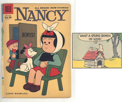 1959 NANCY #170 comic book with DENTIST cover, never reprinted PEANUTS story
