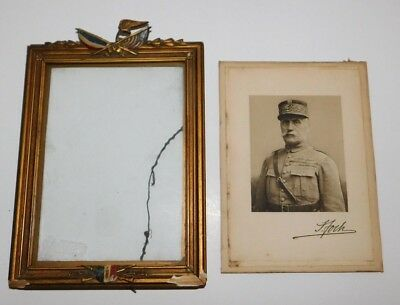 WW1 French General Ferdinand Foch Framed Print with Autograph