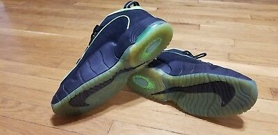 separation shoes d611c d11f2 NIKE AIR MAX PENNY 05 HOH 438793-033 black electric green Size 14
