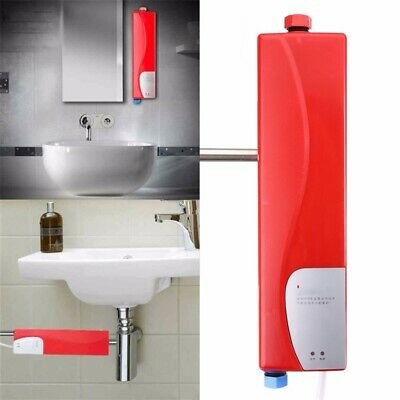 3000W 220V Instant Electric Tankless Hot Water Heater Sink Tap Faucet  Bathroom